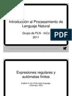 2011 04 - Expresiones regulares y autómatas