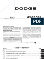 2008 Avenger Owners Manual