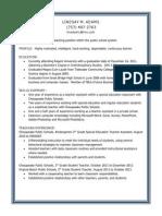 lindsays resume post