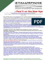 New Age-pope John Paul II