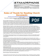 Rules of Thumb for Reading Church Documents