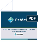 Inconstitucionalidade Ficha Limpa Final