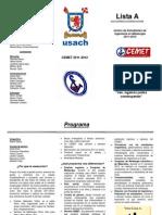 Tríptico, Lista A, CEMET 2011-2012