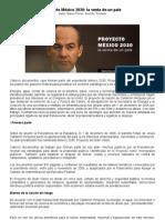 Proyecto México 2030 -El pais en venta-