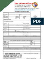 Official Membership Application Form Eagles International - Talakag Ed