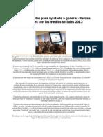 101Herramientas Generar Clientes Medios Sociales 2012