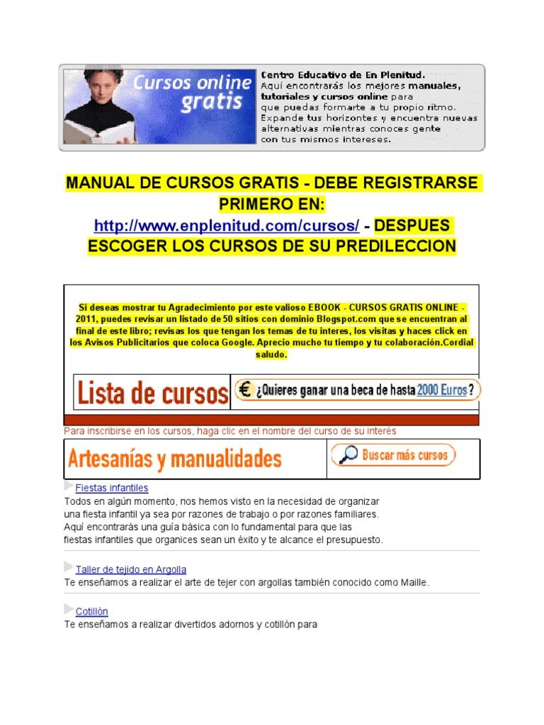 Cursos Gratis Todos Los Temas Convers 2011