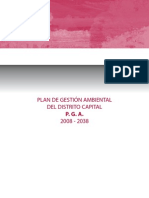 Plan de Gestion Ambiental PGA 2008 - 2038