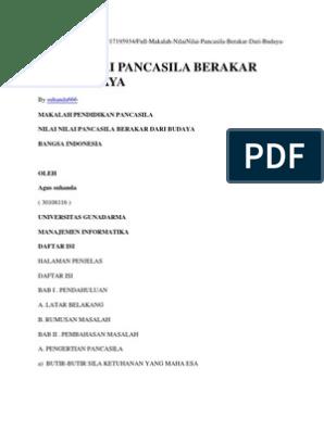 Budaya Pancasila