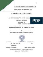 Sunil Sangwan Report on Capital Budget