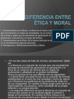 Diferencia entre Ética y Moral