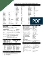 Chemistry Ion cheat sheet