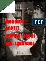 MONOLOG ŞOPTIT PENTRU COPIII DIN LANDOURI