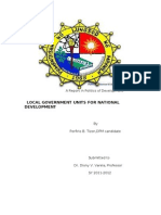 LGU a Report in Politics of Development