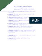 Artículos de la Convención de los Derechos del Niño