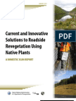 Current and Innovative Solutions to Roadside Revegetation Using Native Plants