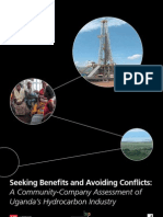 Seeking Benefits and Avoiding Conflicts from Uganda's Oil resources
