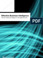 Effective Business Intelligence - The Use of Business Intelligence in the Digital Economy