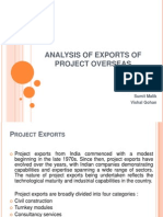 Analysis of Exports of Project Overseas
