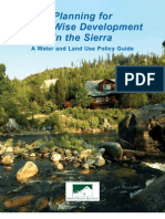 California; Planning for Water-Wise Development in the Sierra