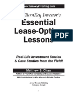 Introduction to The TurnKey Investor's Essential Lease-Option Lessons