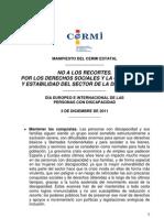 Manifiesto Del Cermi Estatal 3 Diciembre 2011def Def