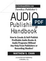 TurnKey Publisher's Audio Publishing Handbook (Table of Contents, Introduction, Chapter 1)