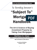 TurnKey Investor's Subject-To Mortgage Handbook (Table of Contents, Intro, Chapter 1)