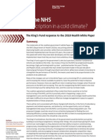 Liberating the NHS - The Right Prescription in a Cold Climate1