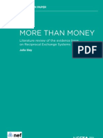 More Than Money Literature Review