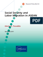 Social security and labor migration in ASEAN