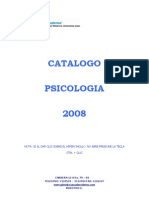 CATALOGO LIBROS PSICOLOGIA 2008-1