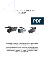 Working With Your Dv Camera