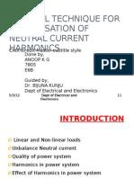 Control Technique for Compensation of Neutral Current Harmonics