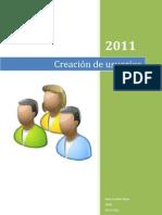 Creación de usuarios