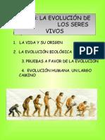 UNIDAD 5. LA EVOLUCIÓN DE LOS SERES VIVOS