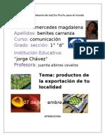 Productos Agroexportación