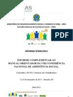 Informe CNAS 004 - Informe Complementar Ao Manual Orient Ad Or