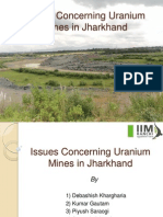 Issues Concerning Uranium Mines in Jharkhand