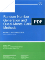 - Random Number Generation and Quasi-Monte Carlo Methods