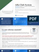(www.reformasanatate.ro) prezentare Alfa Club System - Reforma Sanatatii 2012