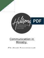 Communication in Ministry Assessment Guide v110210