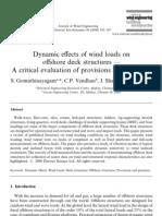 Dynamic Effects of Wind Loads on Offshore Dec