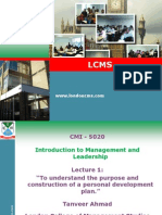 Itro to Mgt and Leadership 1