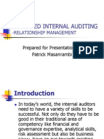 Relationship Managenment in Internal Auditing