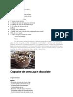 Cupcakes de Chocolate e Coco