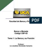 Tema 1 La Banca y su función