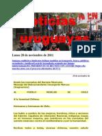 Noticias Uruguayas Lunes 28 de Noviembre de 2011