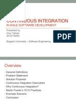 Continuous Integration in Agile Development