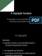 A Migracao Humana